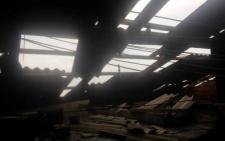 На Буковині буревій зірвав частину покрівлі з райлікарні (фото)
