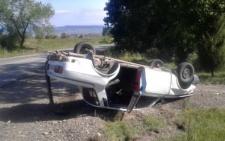 На Буковині автомобіль загубив колесо і перекинувся (фото)