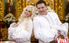 Буковинка Катерина Бужинська у Феофанії похрестила своїх двійнят (фото)