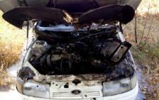 На Путильщині  під час руху в авто загорівся мотор