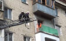 У Чернівцях на проспекті Незалежності горів балкон (фото+відео)