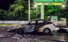На Буковині, на одній із газових заправок загорівся автомобіль
