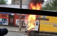 У Чернівцях на Гагаріна загорівся автомобіль Укрпошти (фото)