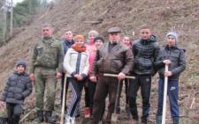На Буковині учні Мигівського шкільного лісництва садили в горах новий ліс