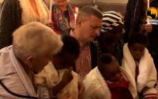 У Чернівцях охрестили трьох маленьких африканців (відео)